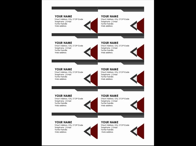 Modern angles business visiting cards