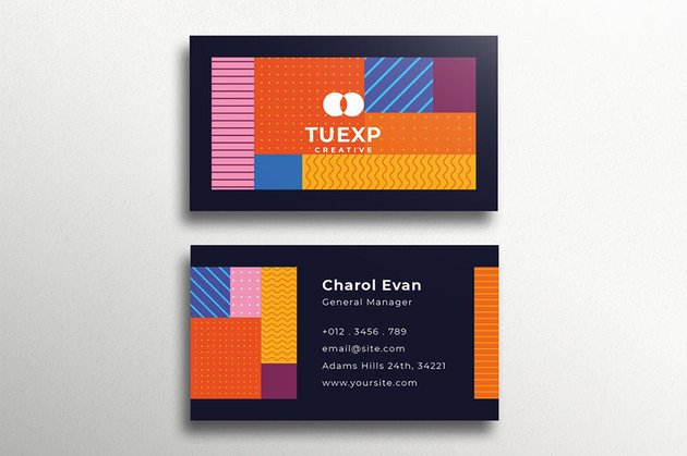Colorful Business Card, a premium template from Envato Elements