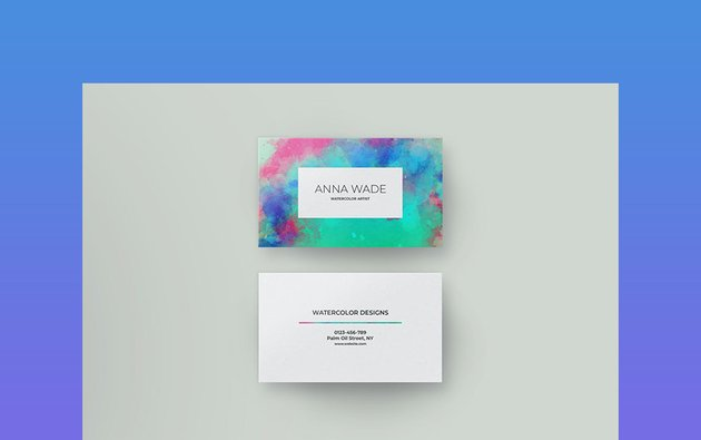Watercolor -  Best Colors for Business Cards