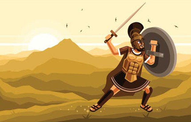Warrior Character Graphics Vector Illustration, a premium vector from Envato Elements