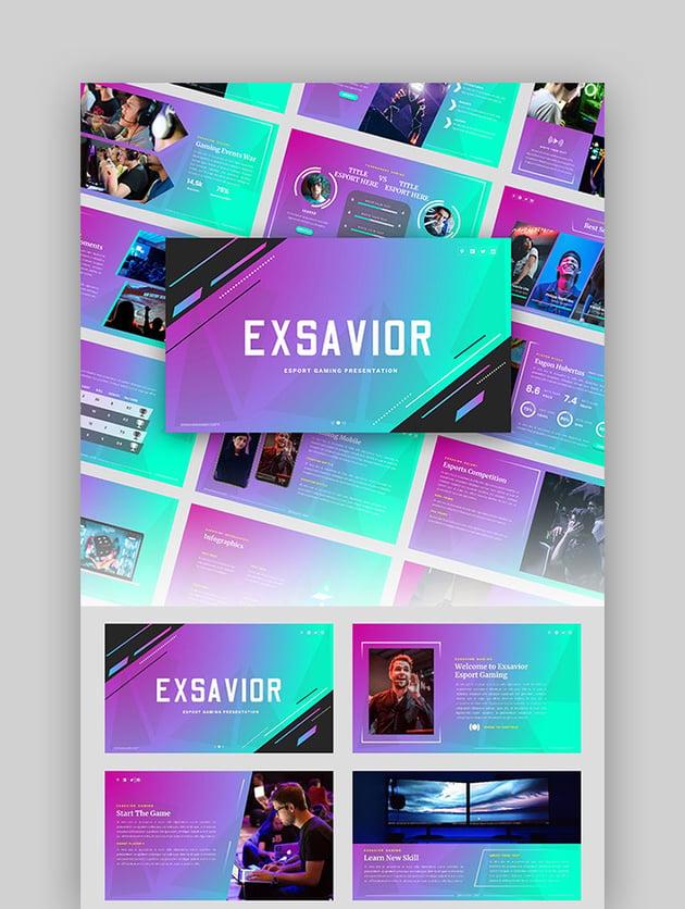 Exsavior - Gaming Google Slide Template