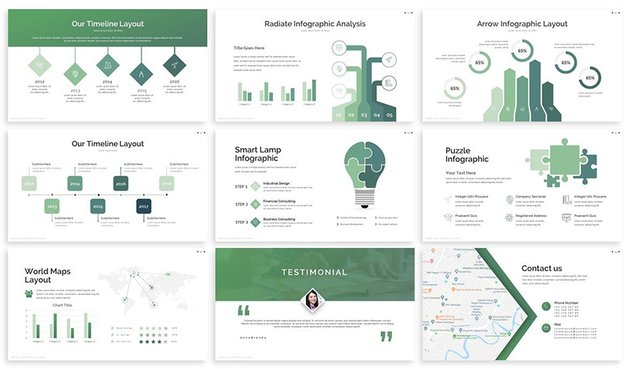 Edu - Academic Google Slides Template from Envato Elements comes with loads of infographics