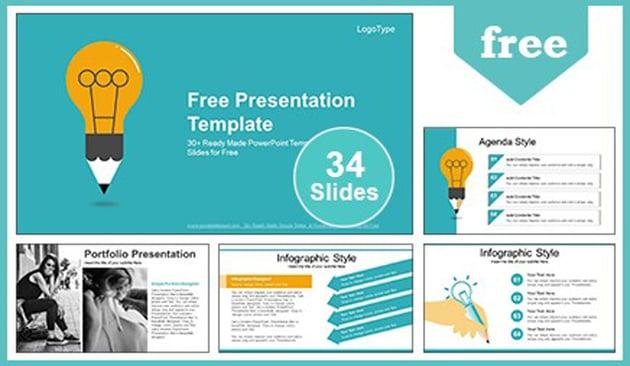 Education Idea Bulb - Free Google Slides Template