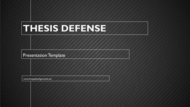 Thesis Defense - Free Google Slides Template