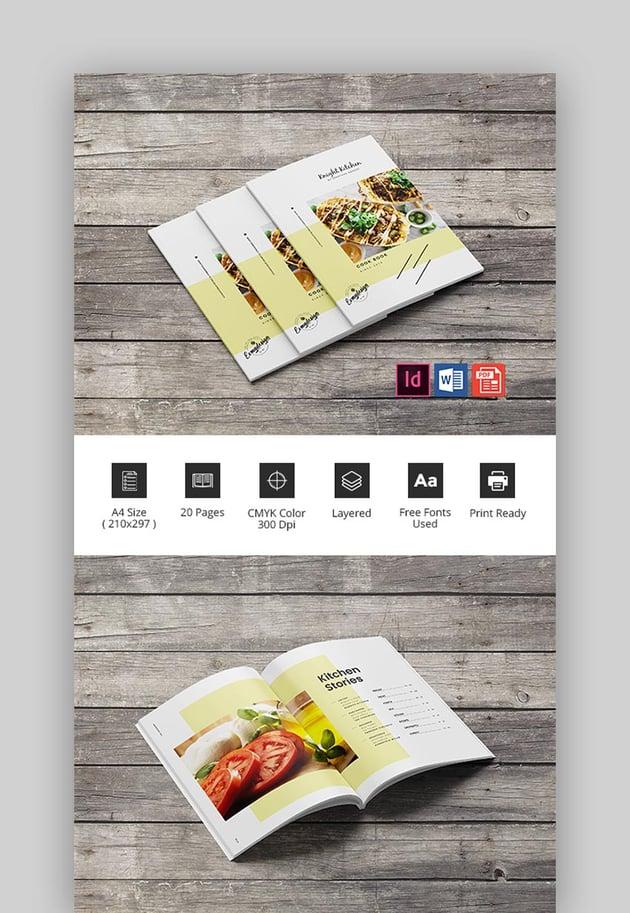 Kichen Cookbook Brochure Template