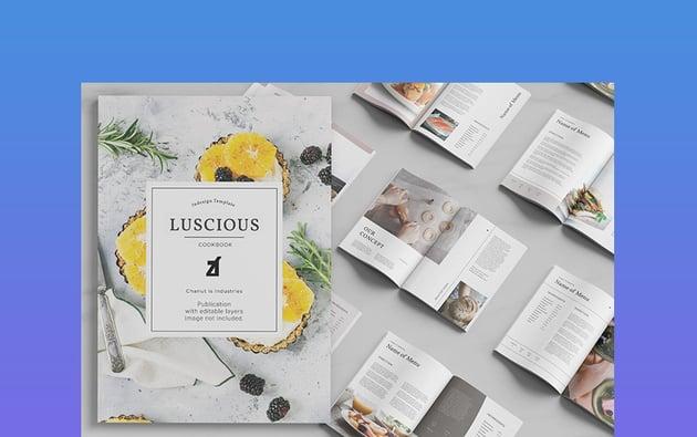 Luscious Cookbook Recipe Book Template Word