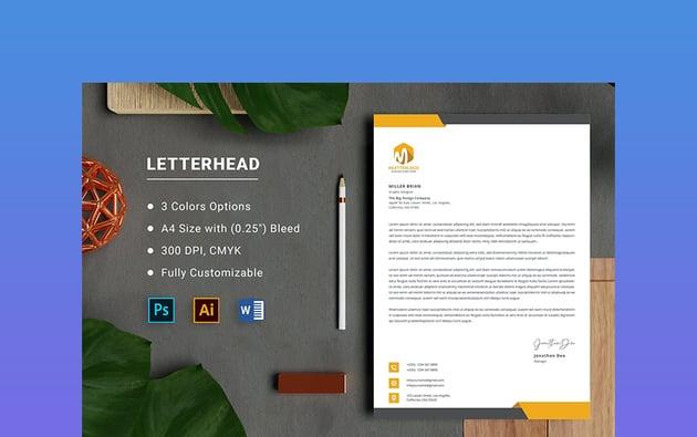 Letterhead Microsoft Word Template