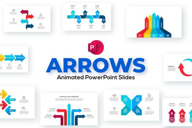 Arrows Animated PowerPoint Presentation, a premium PPT template from Envato Elements
