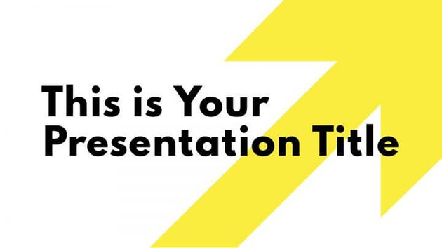 Yellow Arrow PPT Template Free