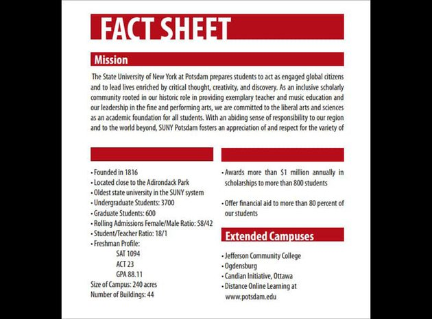 Red Free Fact Sheet Template