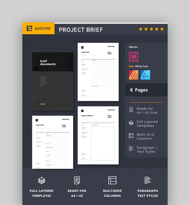 Brief Document Best Outline Template Word