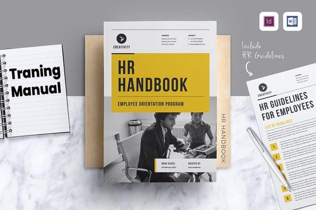 HR / Employee Handbook, a premium Microsoft Word template on Envato Elements
