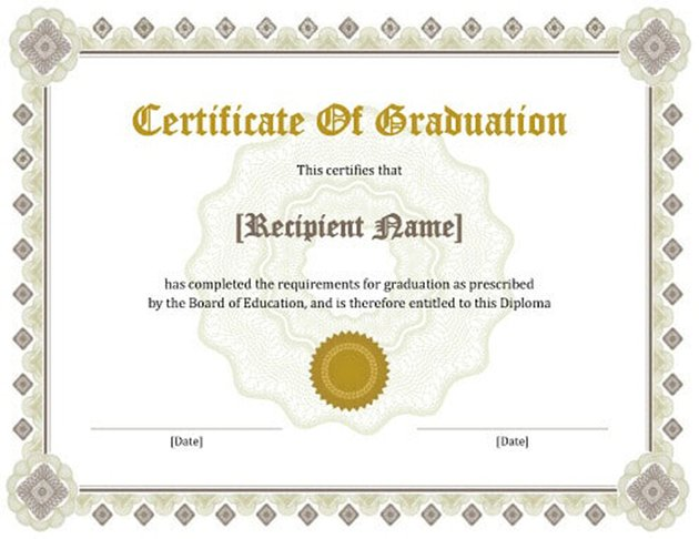Free Certificate of Graduation