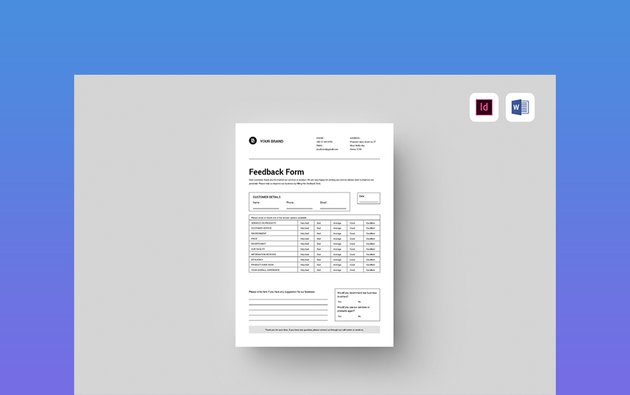 Feedback Form - MS Word Template Form