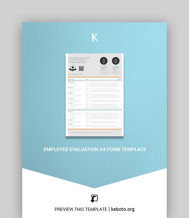 Simple Employee Evaluation Form Template