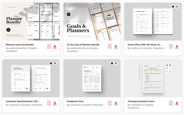 Use premium forms from Envato Elements to help you save time and create modern documents