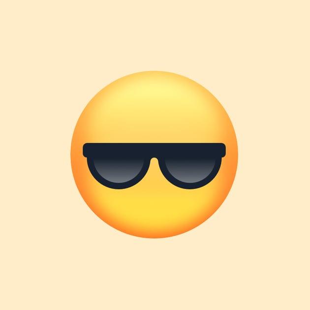 Glasses on the base shape