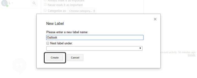 Create a new label