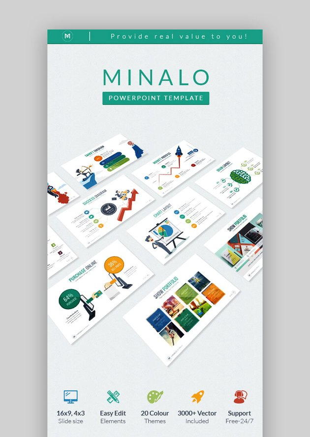 Minalo Creative Business Graphic PPT Theme