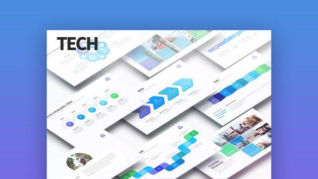 Tech Data Infographic Slides PowerPoint Presentation Deck