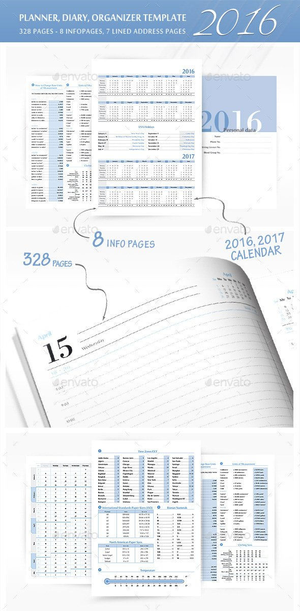 PlannerOrganizer Template for 2016