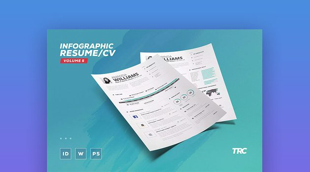 Creative ResumeCV Template Example With Infographics