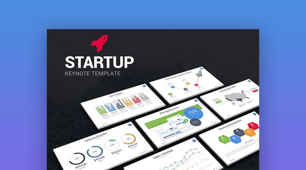 Startup modernes Keynote Pitch Template Design