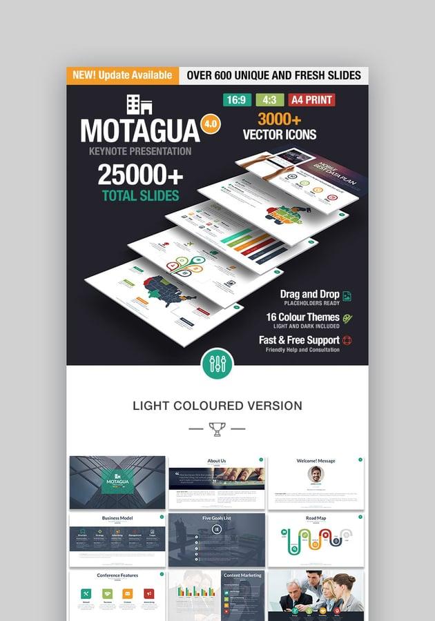Motagua Apple Keynote-Vorlagendesign