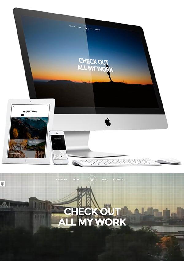 White - Creative Resume Portfolio Template