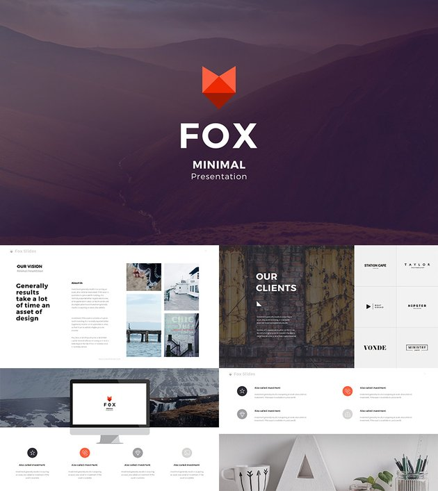 Fox Best Creative Google Slides Template 2016