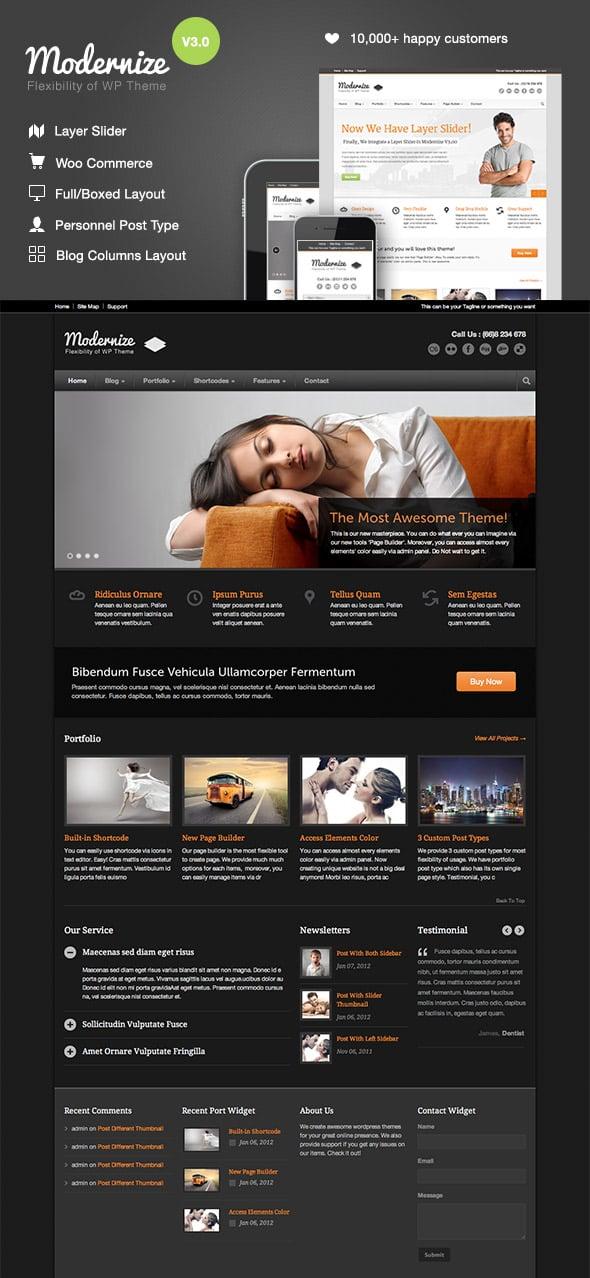 Modernize - Modern WordPress Business Theme