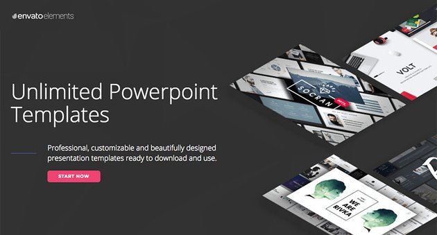 Simple PPT presentations on Envato Elements - with unlimited access
