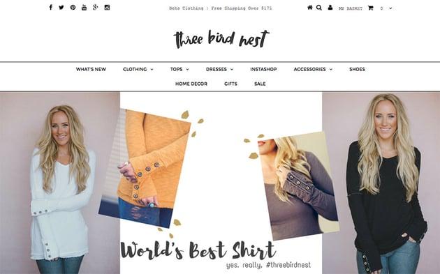 ThreeBirdNest online store