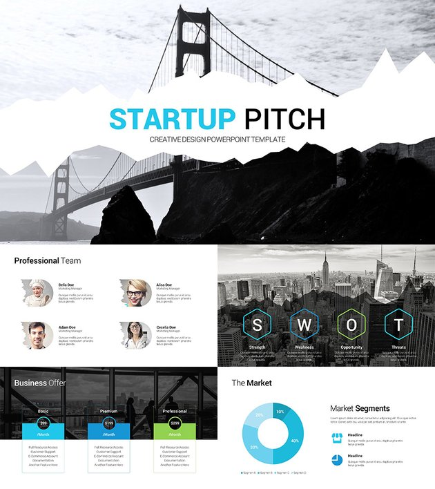 Startup Pitch Presentation Clean PPT Deck