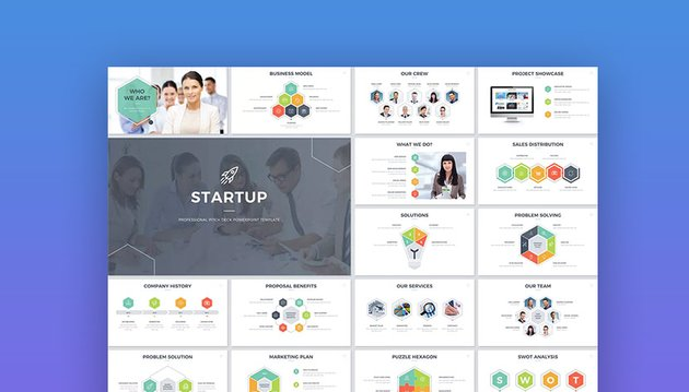 Startup Pitch Deck PowerPoint PPT Template