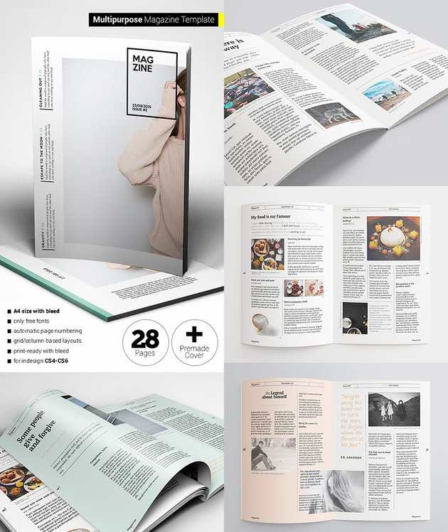 Flexible Magazine Template Creative Layouts