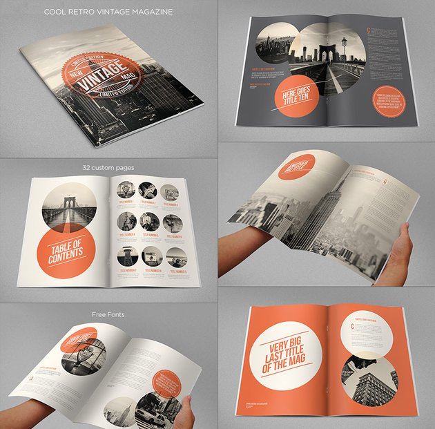 Cool Retro Vintage InDesign Magazine