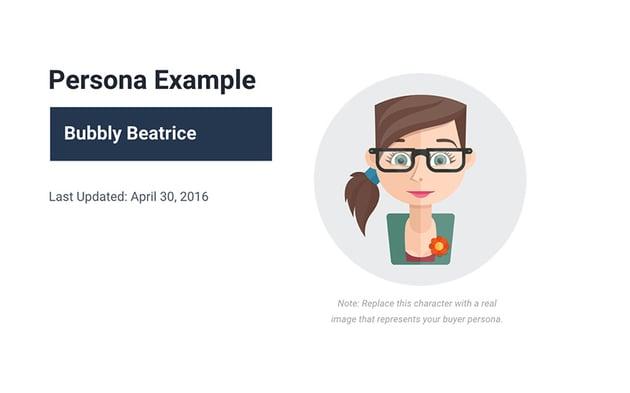 Buyer Persona Slide Example