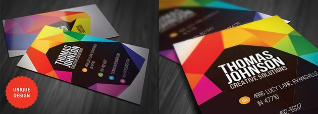 Colorful Photohsop Geometry Business Card Design