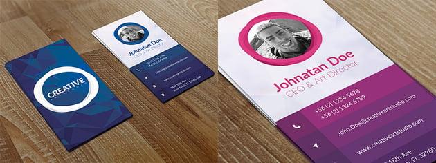 Creative Vertical Business Card Design Photoshop