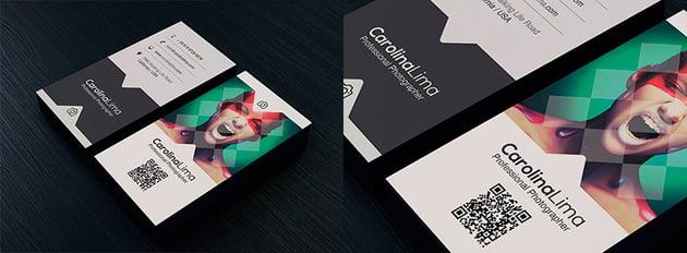 Unique Business Card Design Template PSD