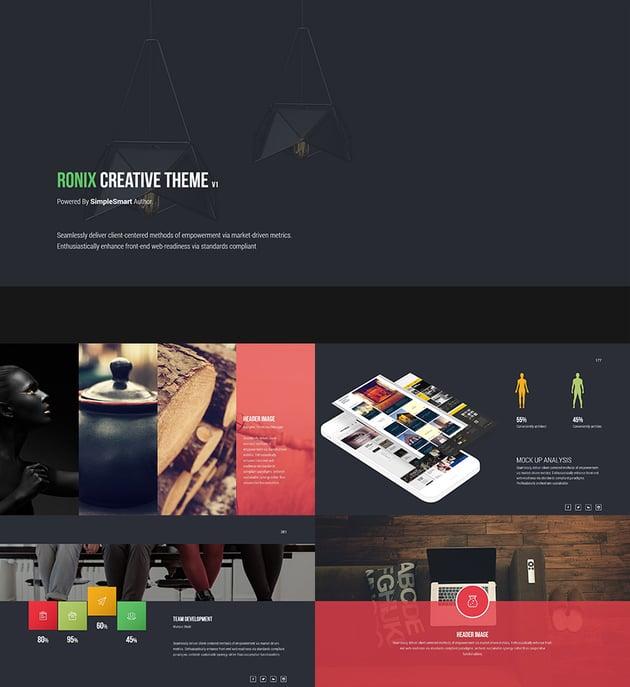 Creative PowerPoint Theme Design Ronix