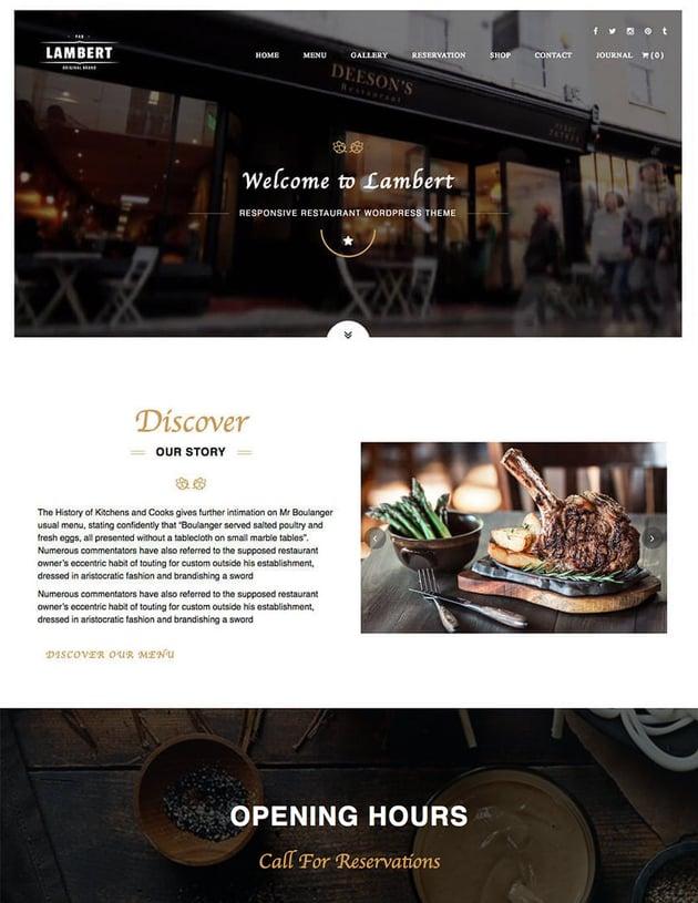 Lambert Cafe WordPress Theme
