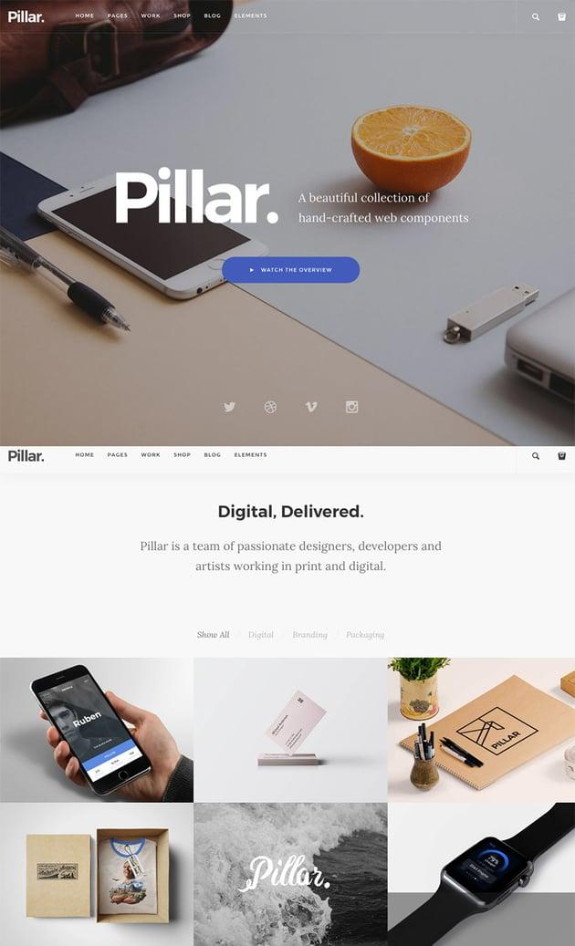 Pillar Website Template