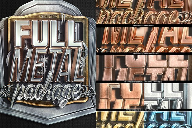 Full Metal Package 3D PSD Actions