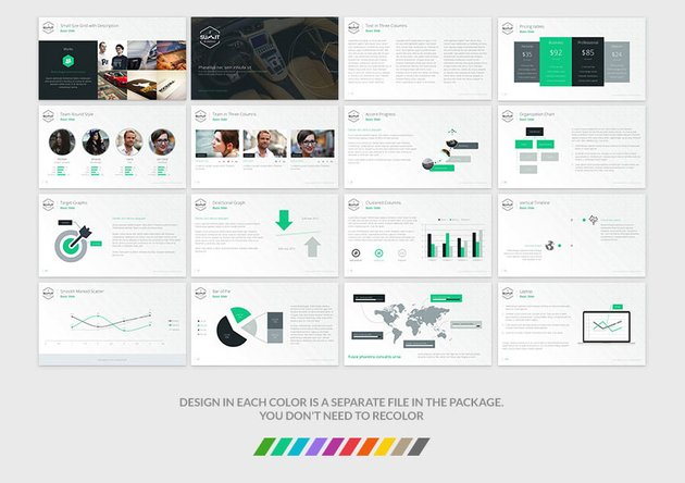 Example slides of the Summit template