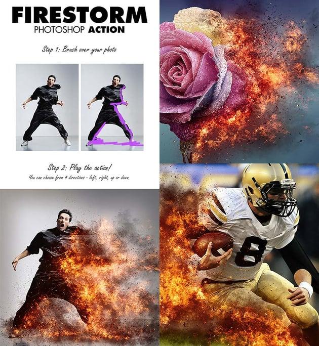 FireStorm Photo Effect Photoshop Action