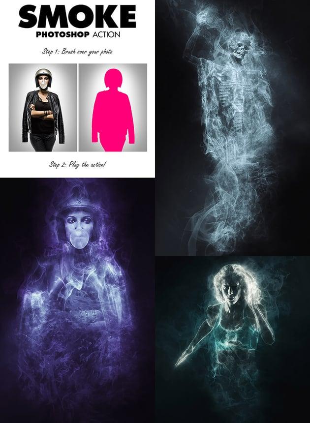 Smoke Photoshop Photo Effect Action