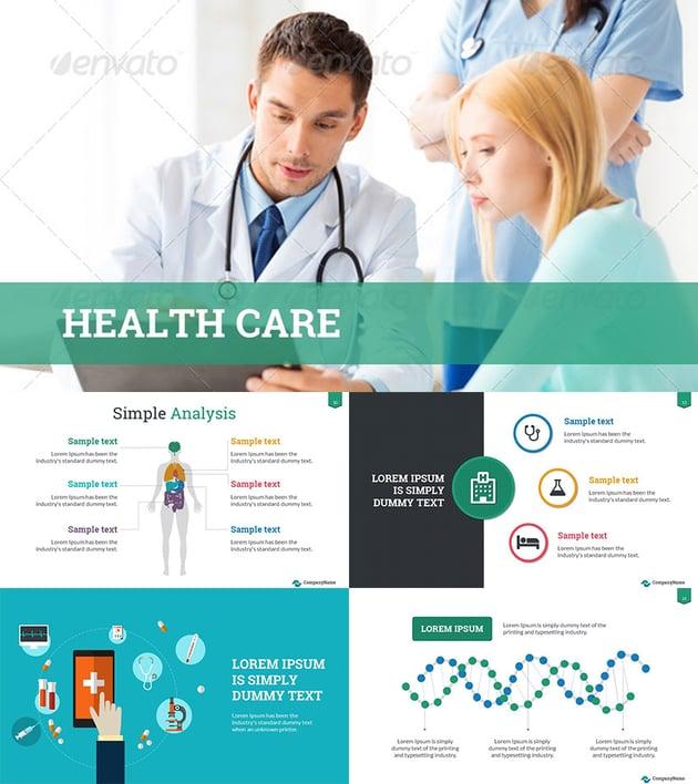Healthcare Success PowerPoint Template Design