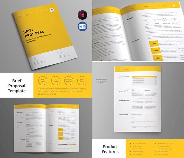 Business Brief Proposal Template Design